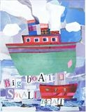 Big Boat Small Boat by craig askew, Giclee Print
